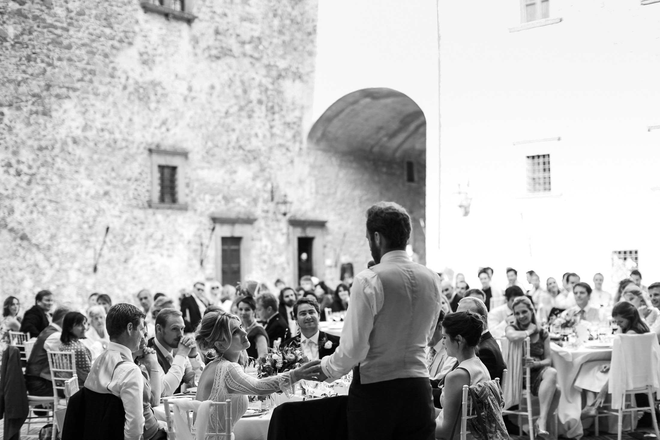 pasquale andreotti groom's during the speech