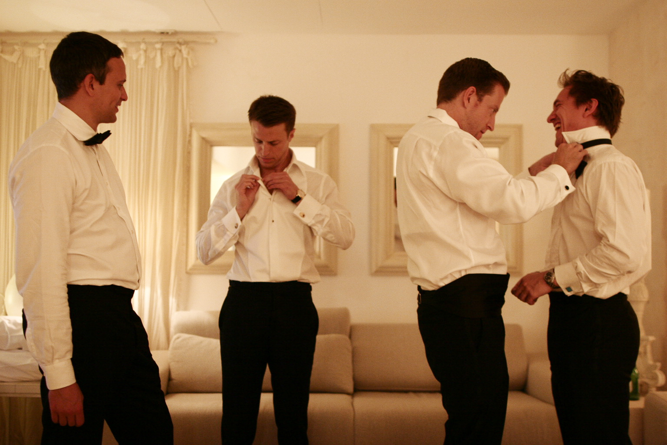 pasquale andreotti groom getting ready with his best men