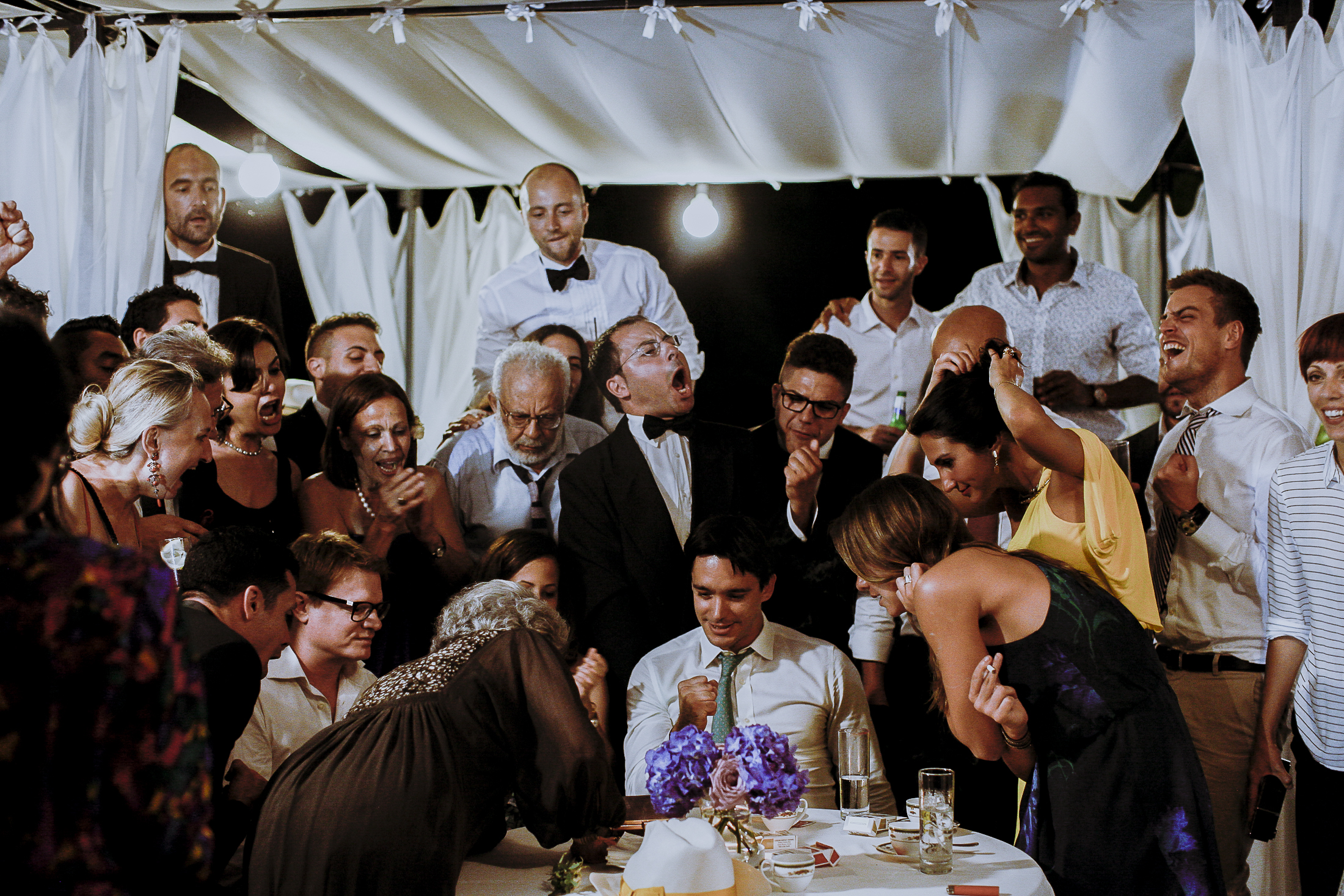 pasquale andreotti wedding guests at a wedding party