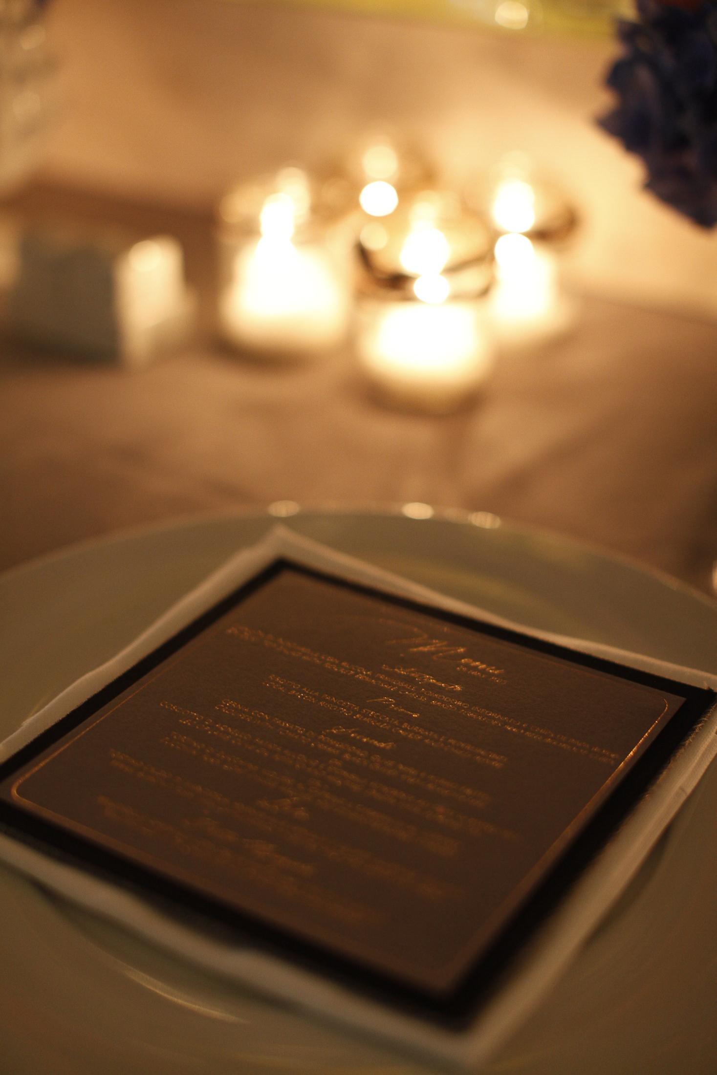 pasquale andreotti wedding menu