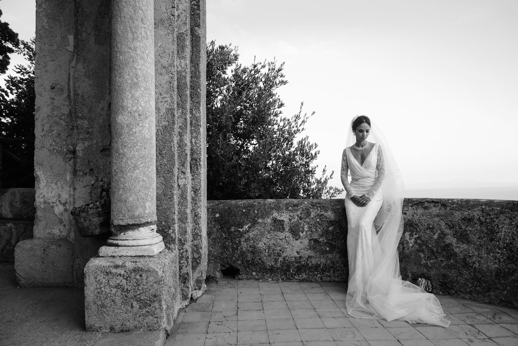 adriana alfano bride's portrait at villa cimbrone ravello italy