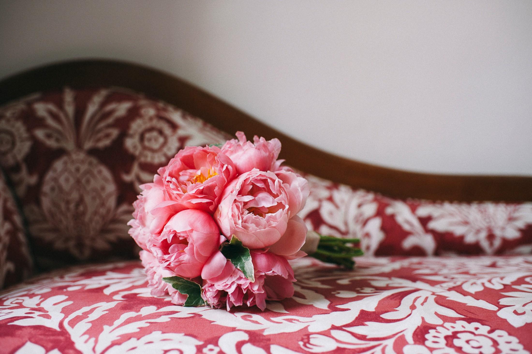adriana alfano pink peony wedding bouquet