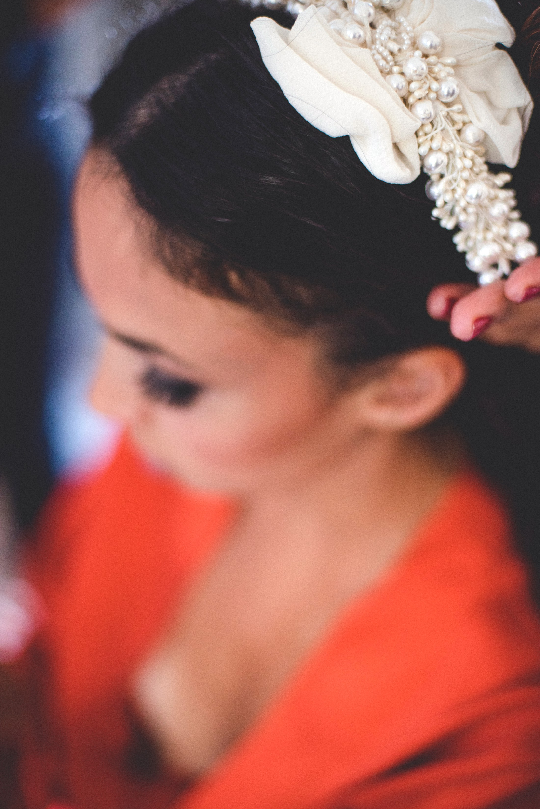 adriana alfano wedding pearl hair clip