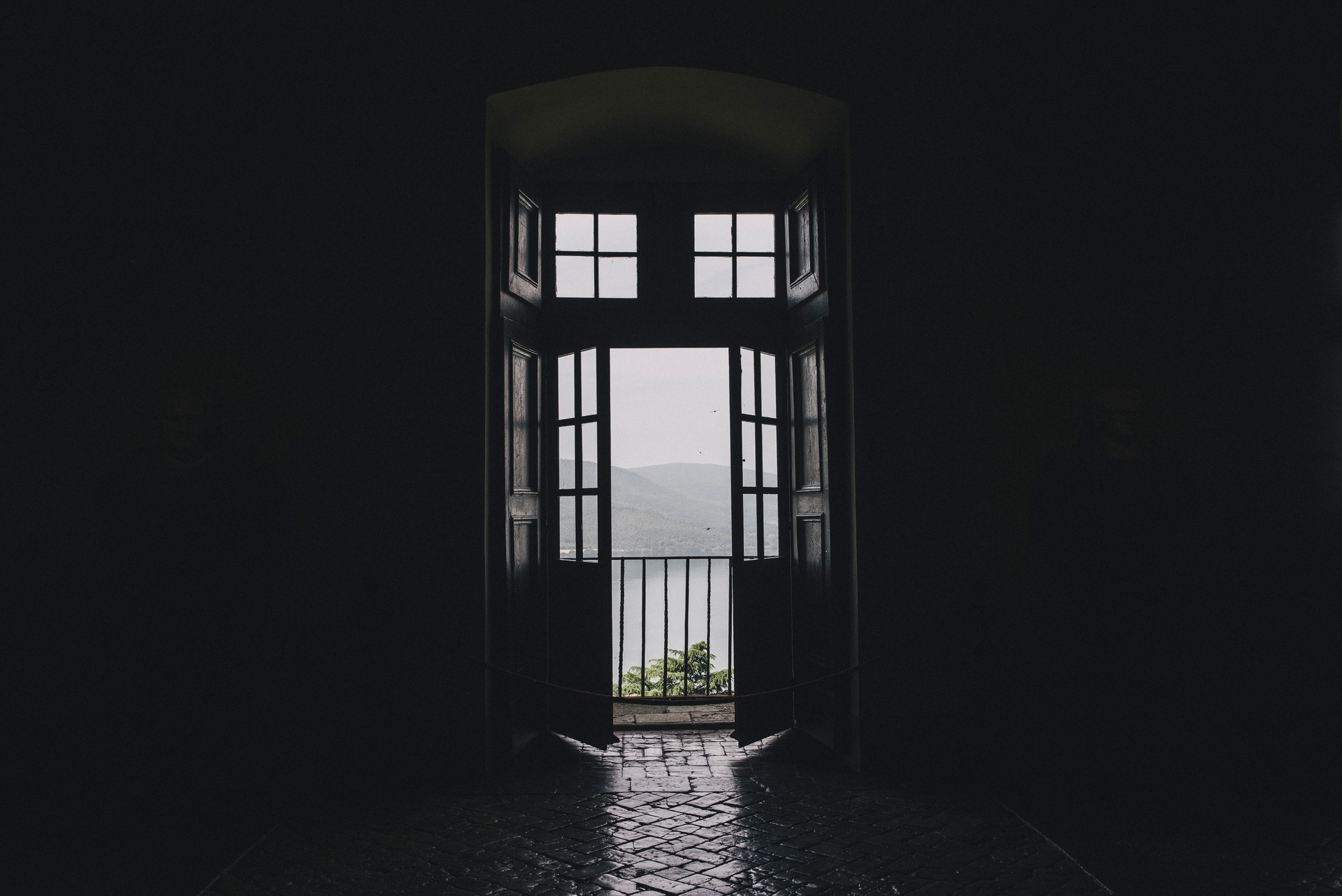 adriana alfano bracciano lake view from a balcony in the castello odescalchi rome