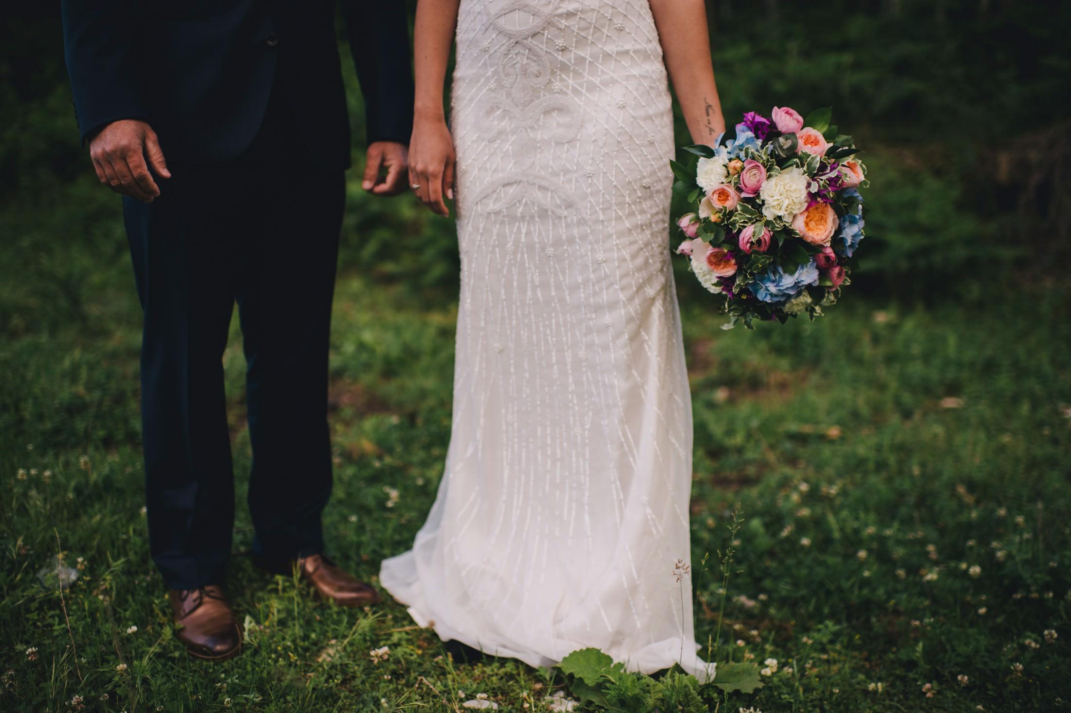 gianni di natale wedding bouquet detail