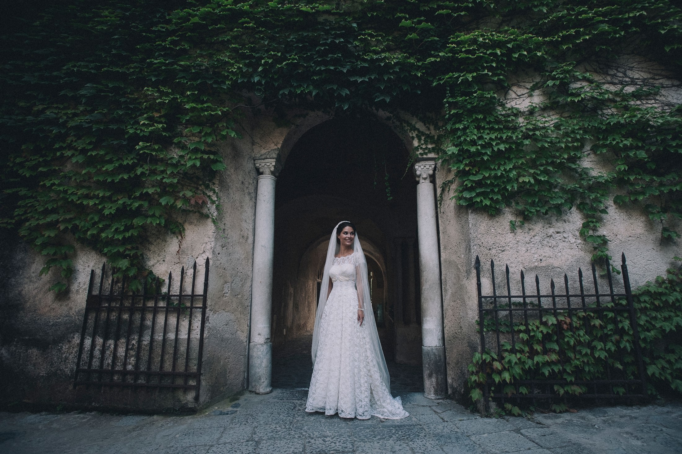 gianni di natale bride's portrait in ravello
