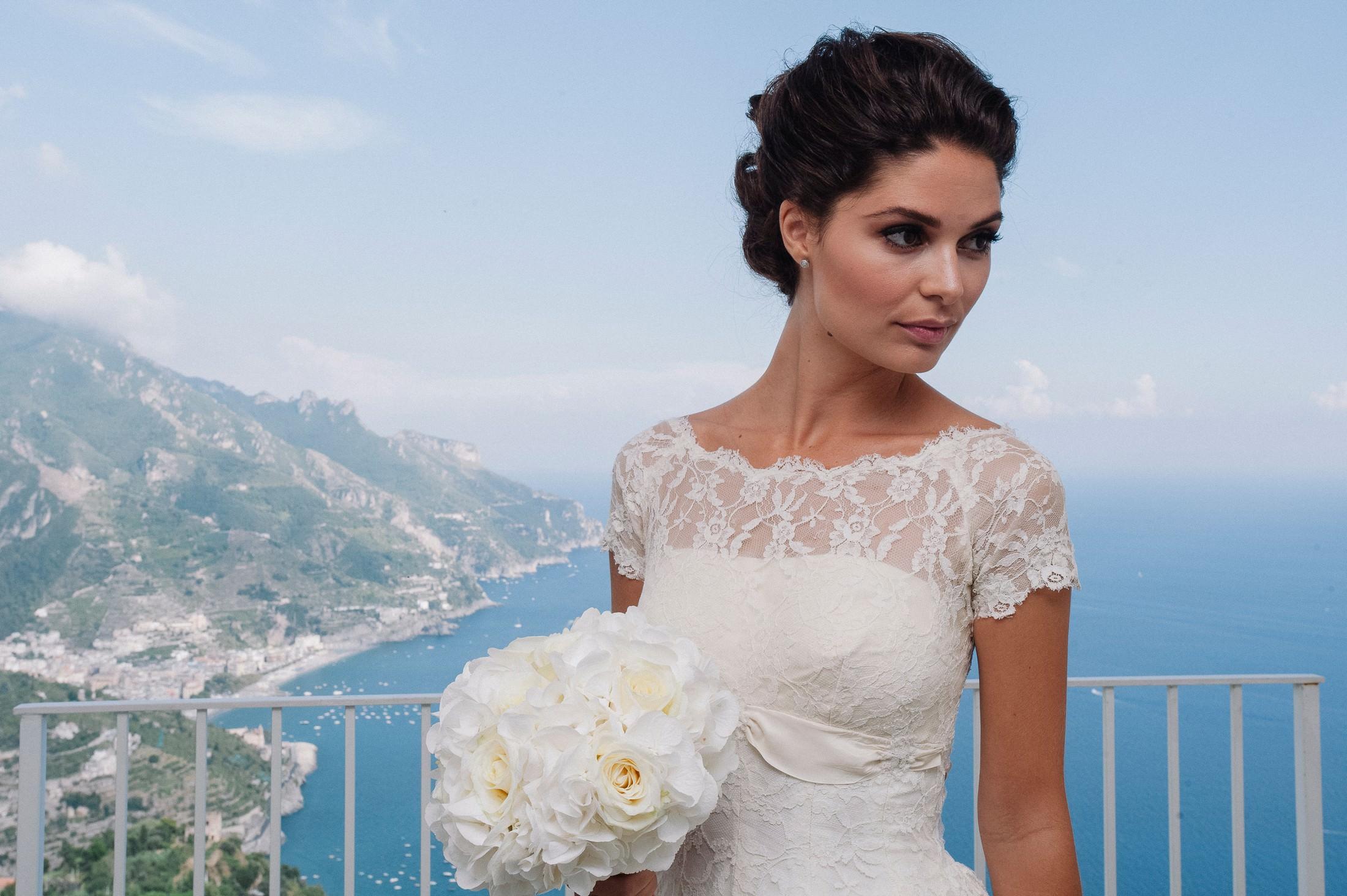 gianni di natale bride's portrait on the balcony in ravello