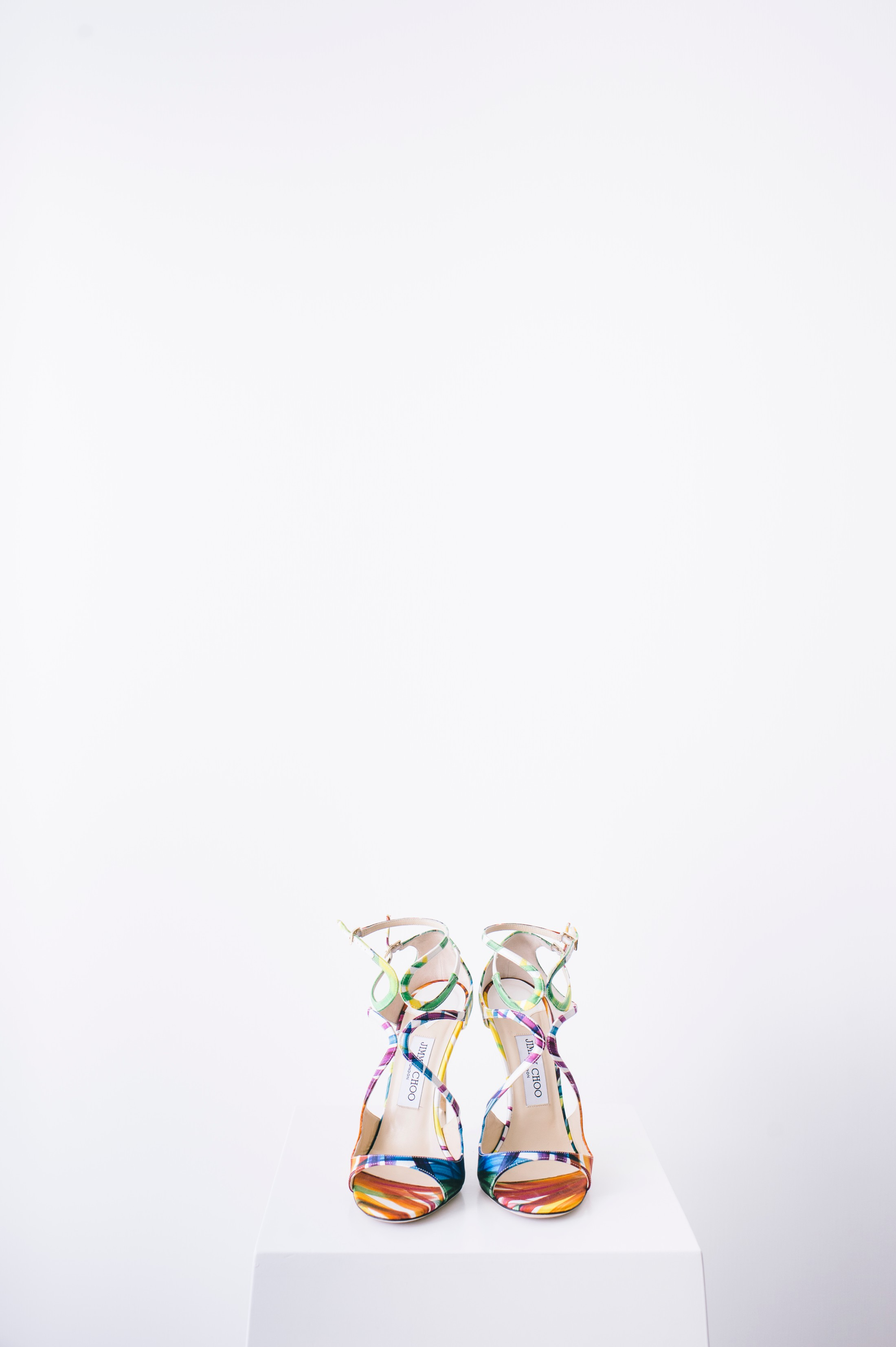 wedding colored shoes by jimmy choo