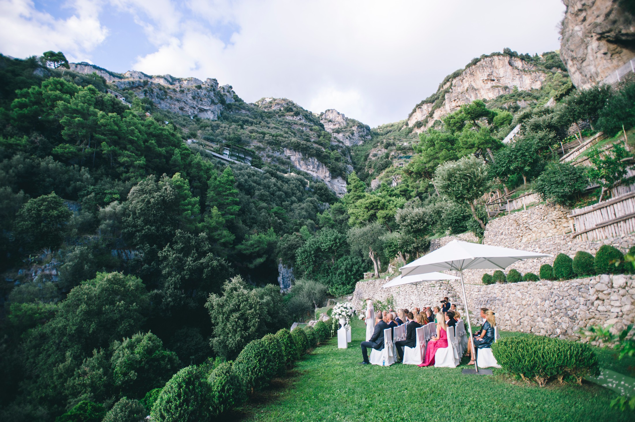 wedding ceremony at casa angelina in praiano amalfi coast