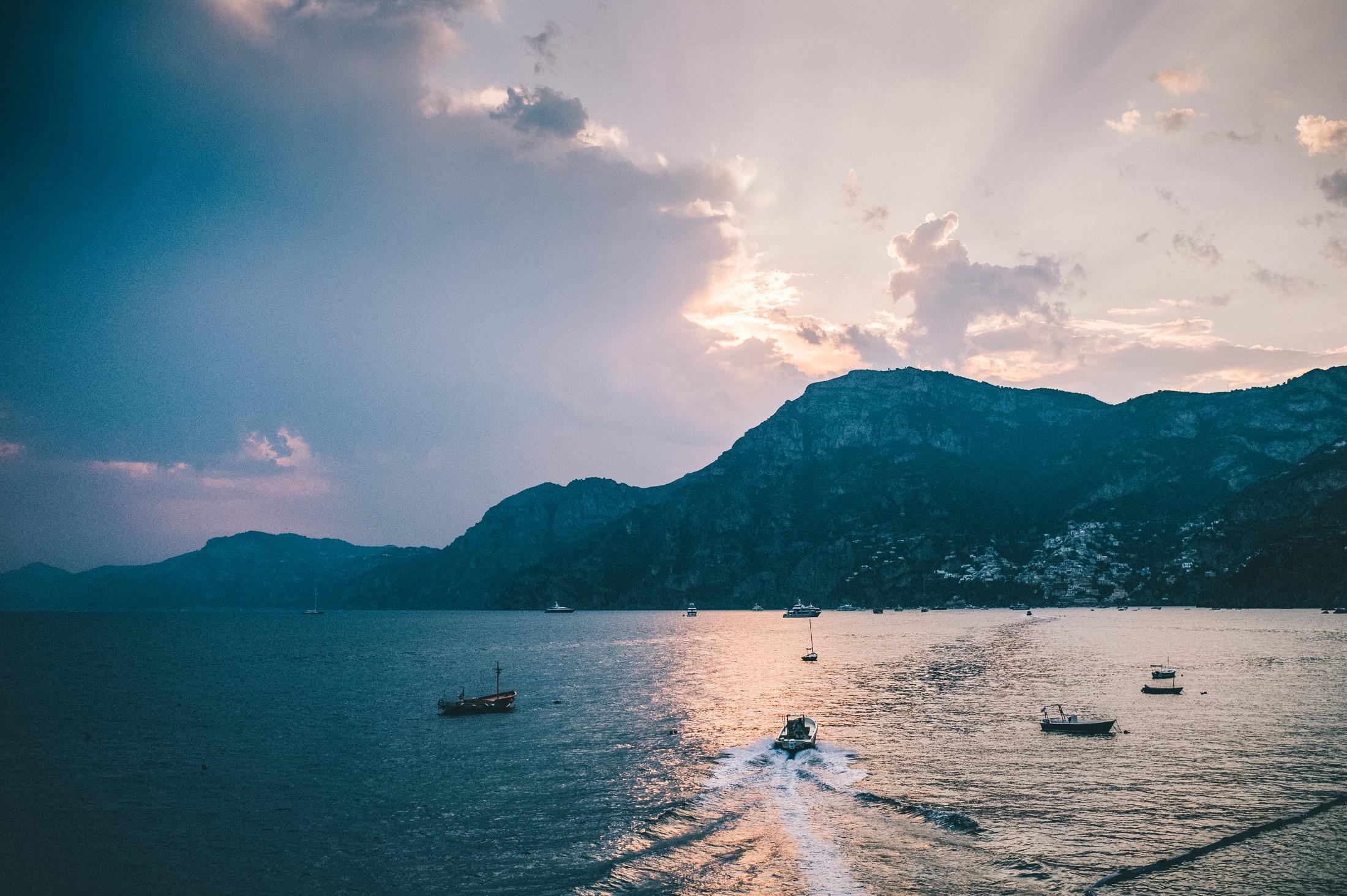 landscape the sea from casa angelina in praiano amalfi coast
