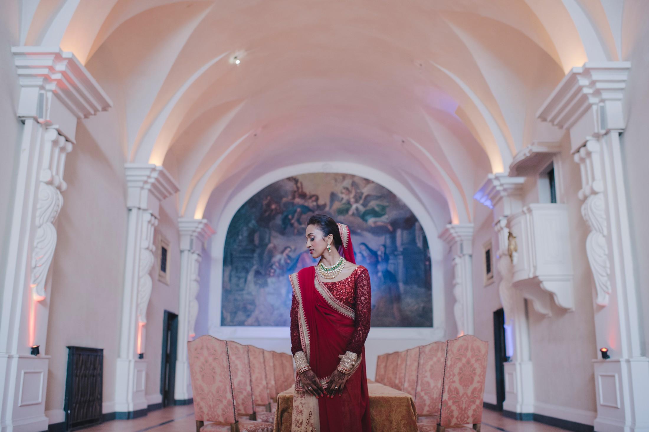 bride's portrait at hotel san francesco al monte napoli