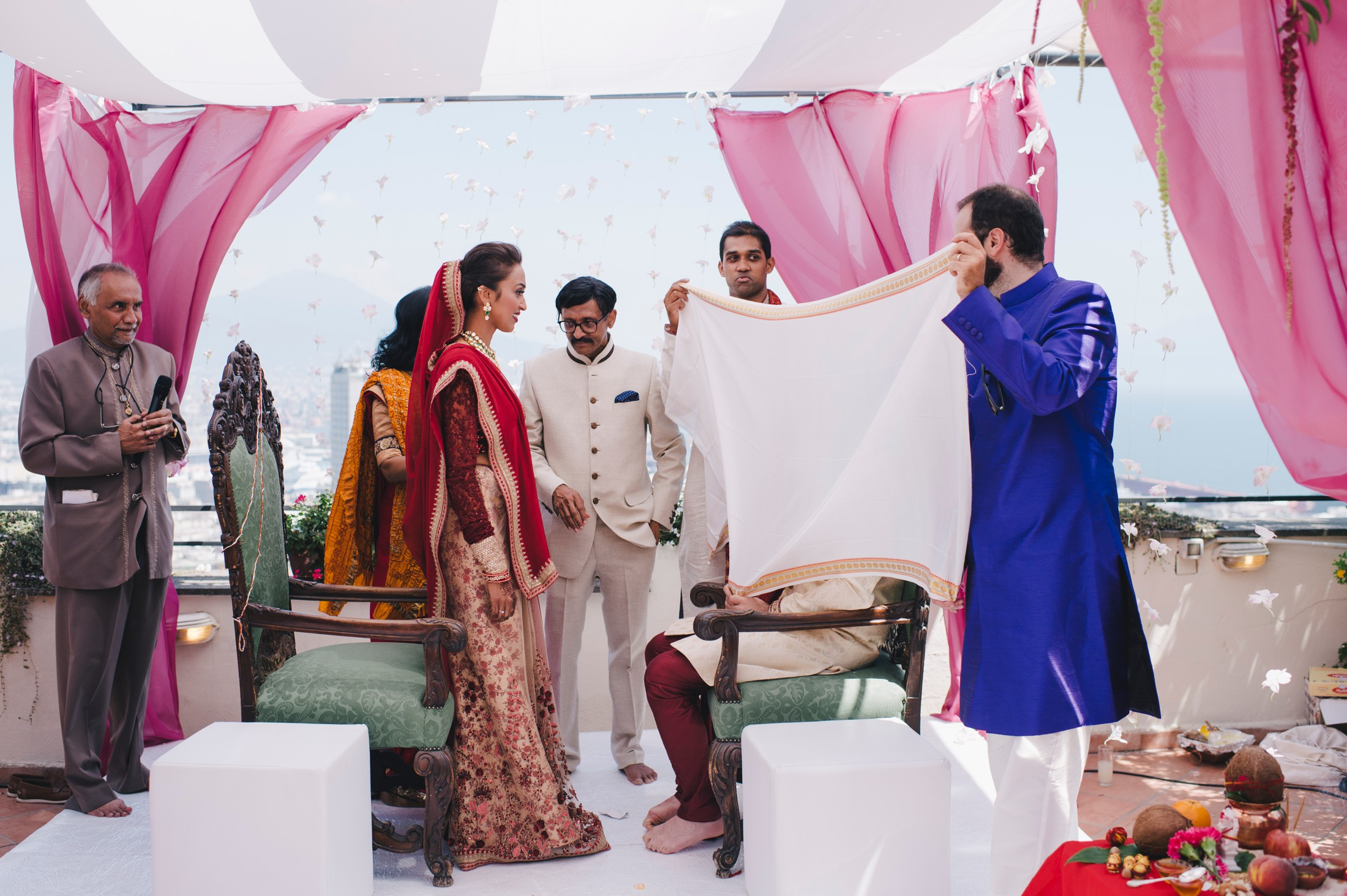 moment from the indian traditional wedding ceremony