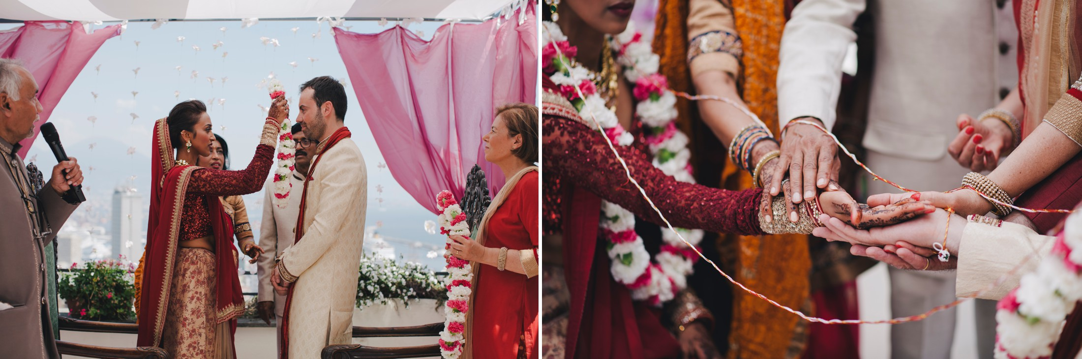 collage moments from the traditional indian wedding ceremony