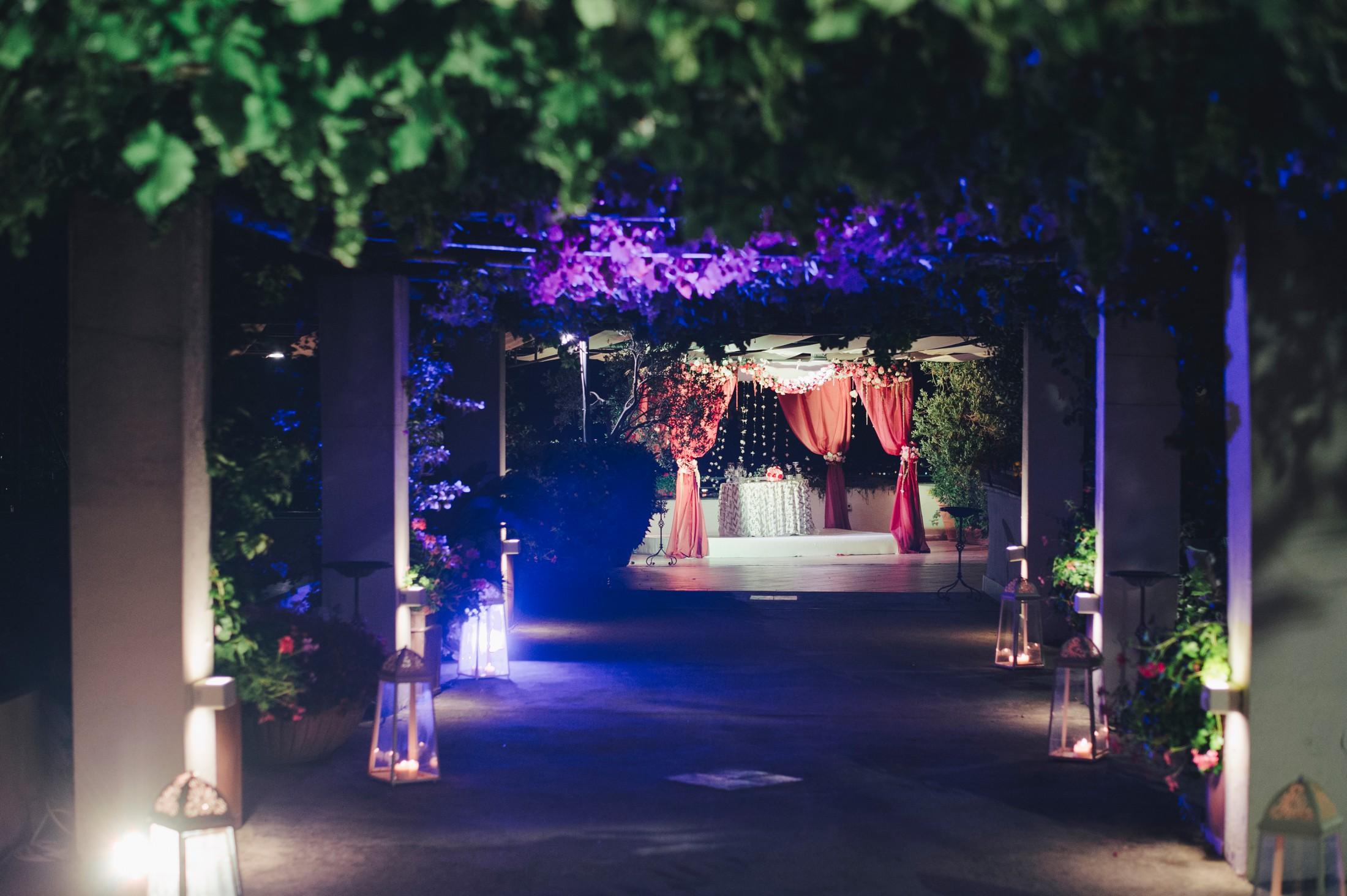 hotel san francesco al monte wedding location by night