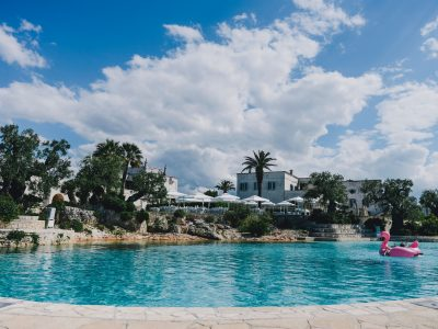 swimming pool at masseria san domenico