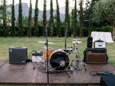 wedding music band instruments at villa cimbrone ravello