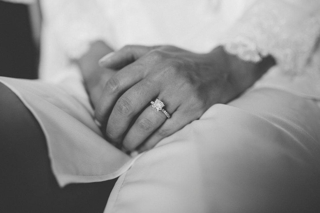 bride's hands detail