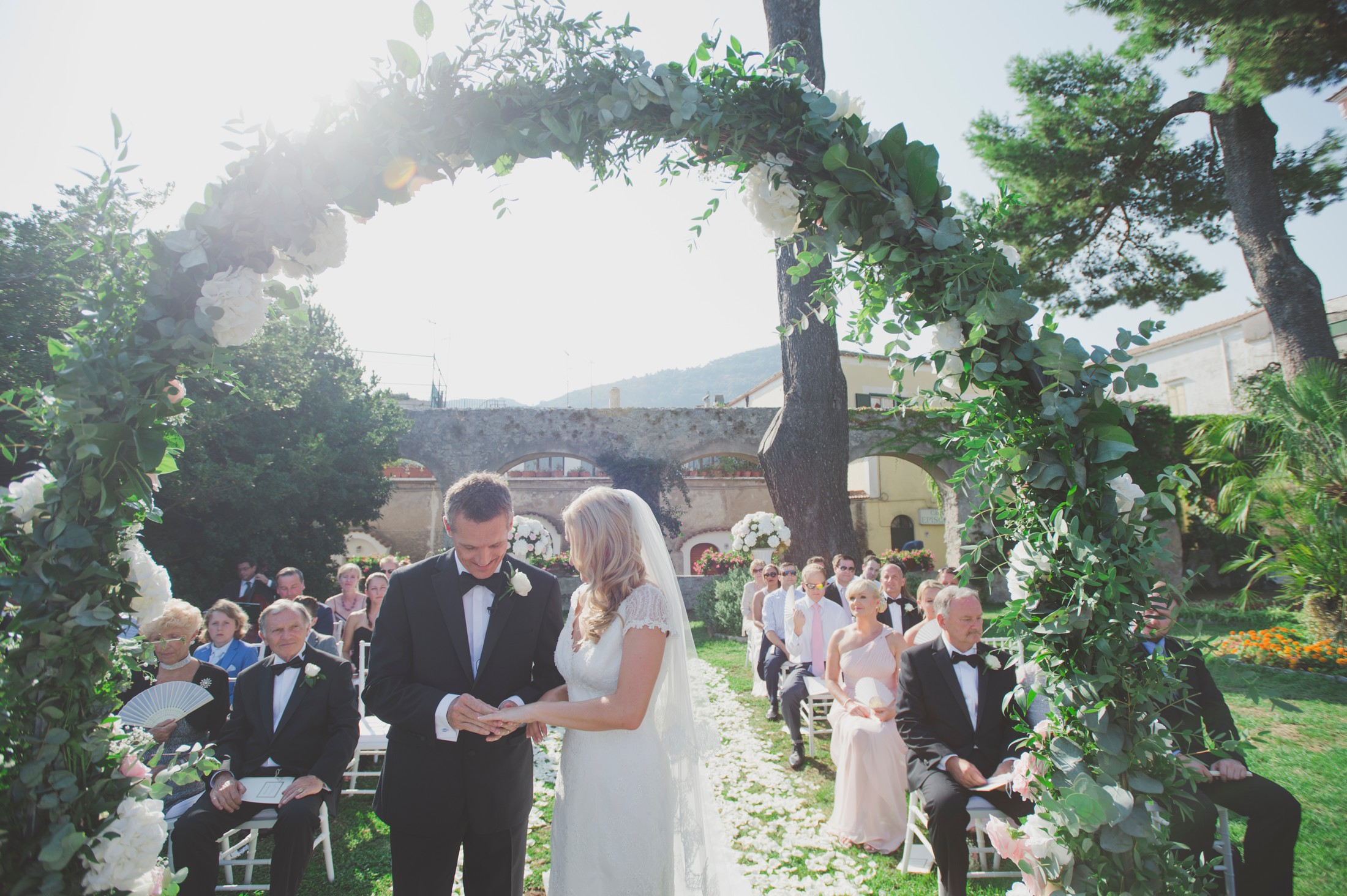 wedding in ravello ceremony