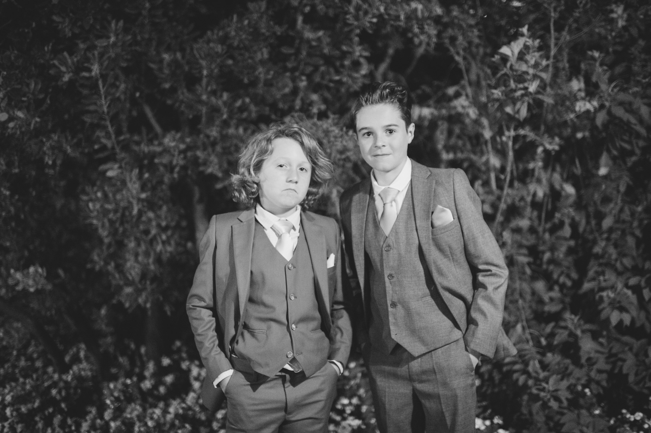 wedding in ravello young boys in black and white