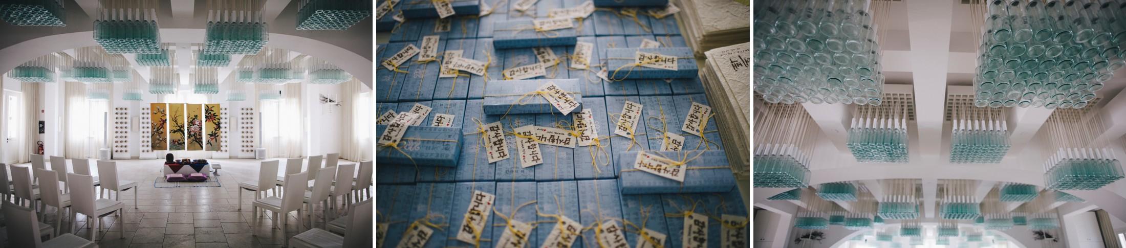 collage korean wedding details