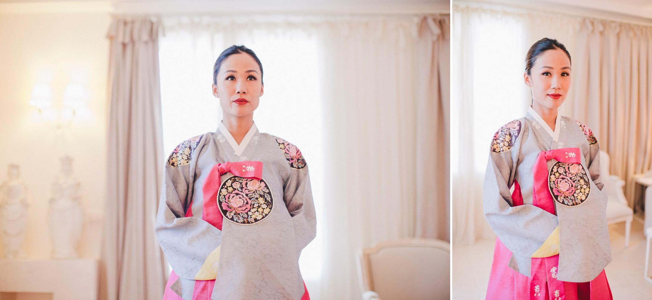 collage bride's portraits