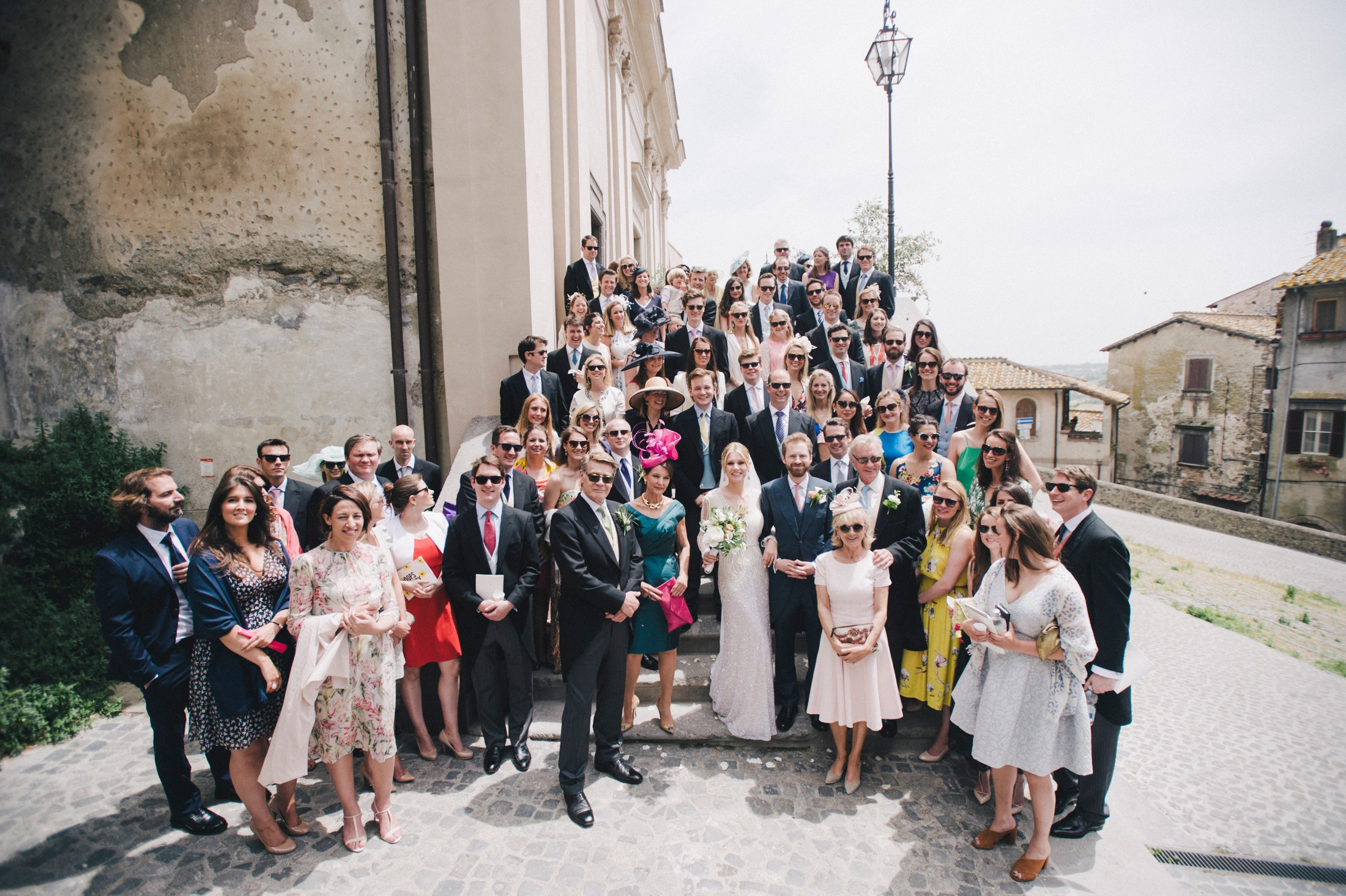 wedding in rome big group