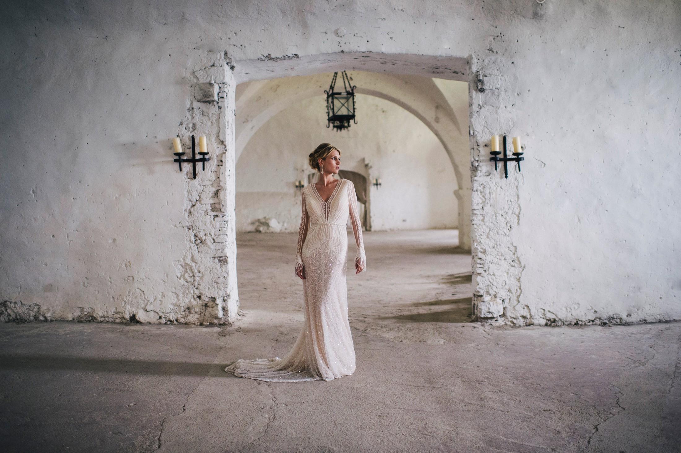 wedding in rome bride's portrait