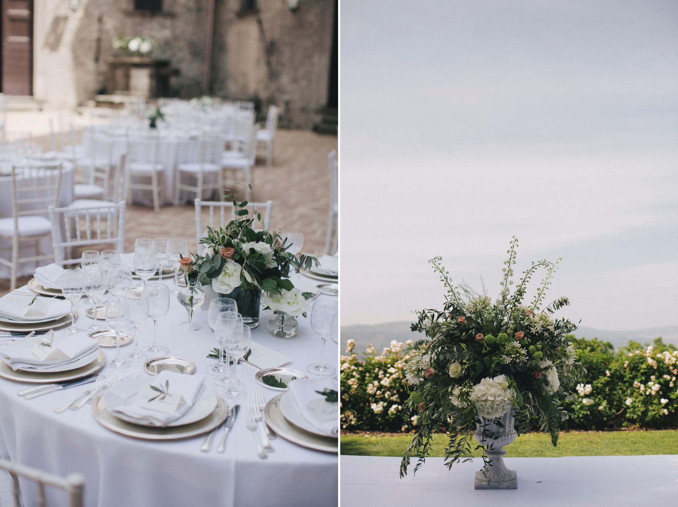 wedding in rome table decor