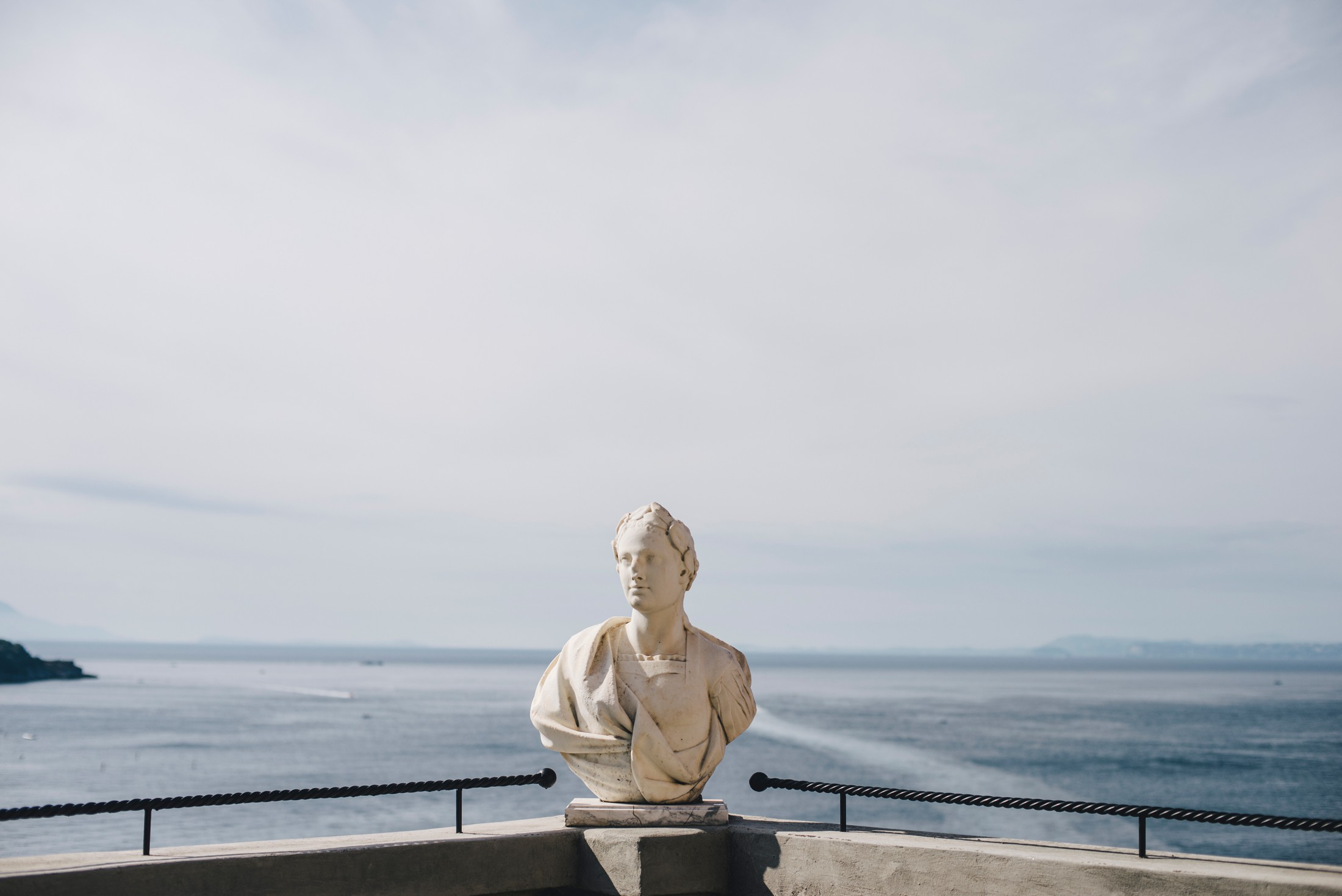 marble statue from hotel excelsior vittoria in sorrento