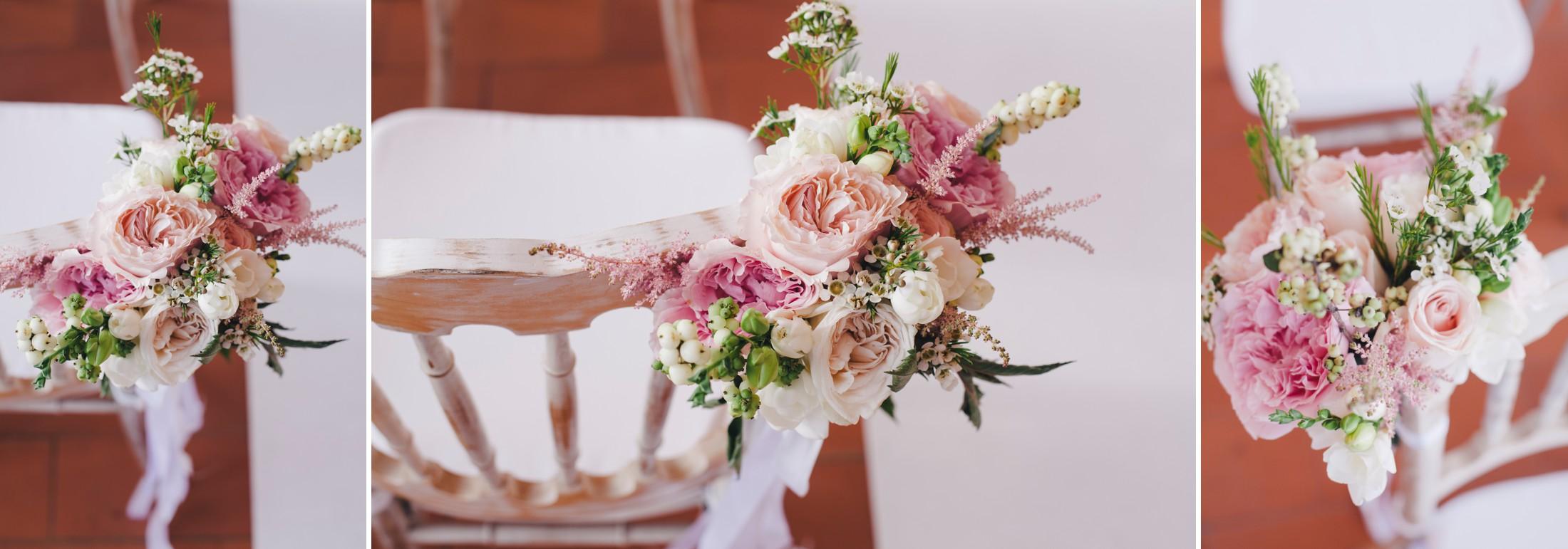 collage wedding flower decor