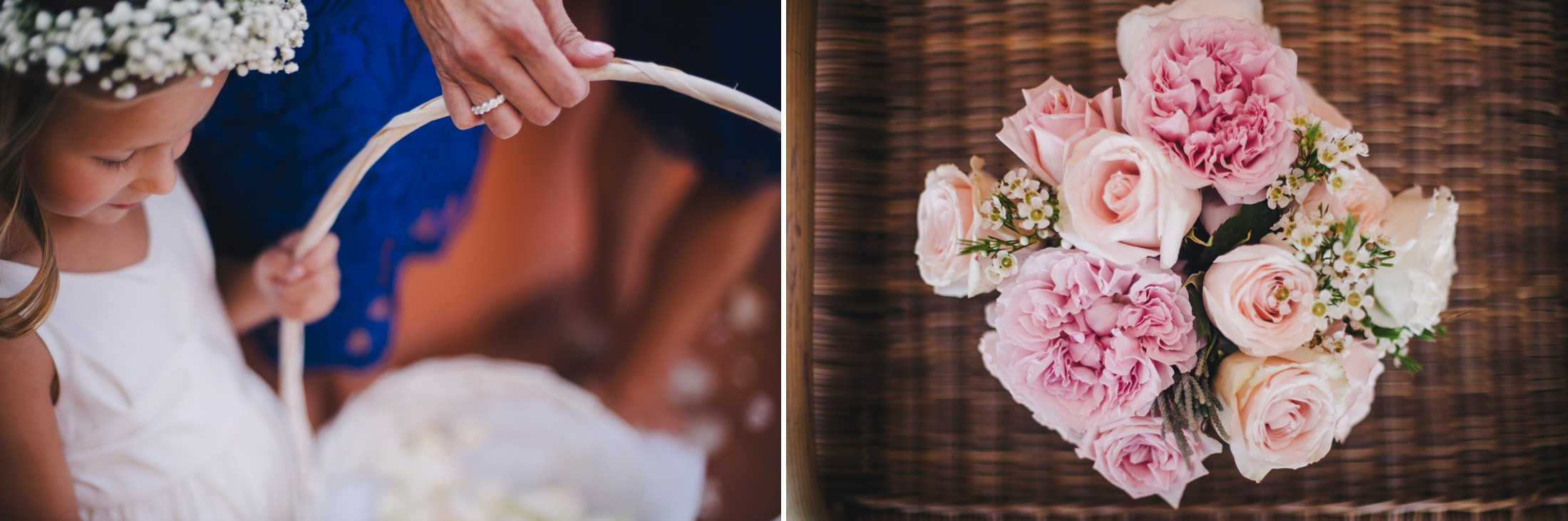 wedding in sorrento flower decor detail