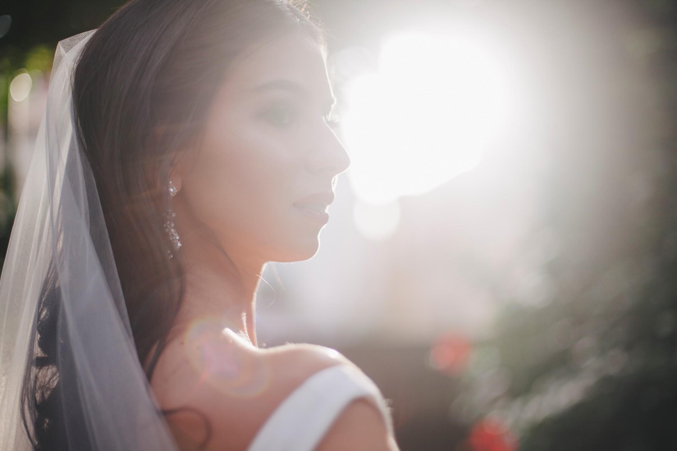 wedding in sorrento bride's portrait