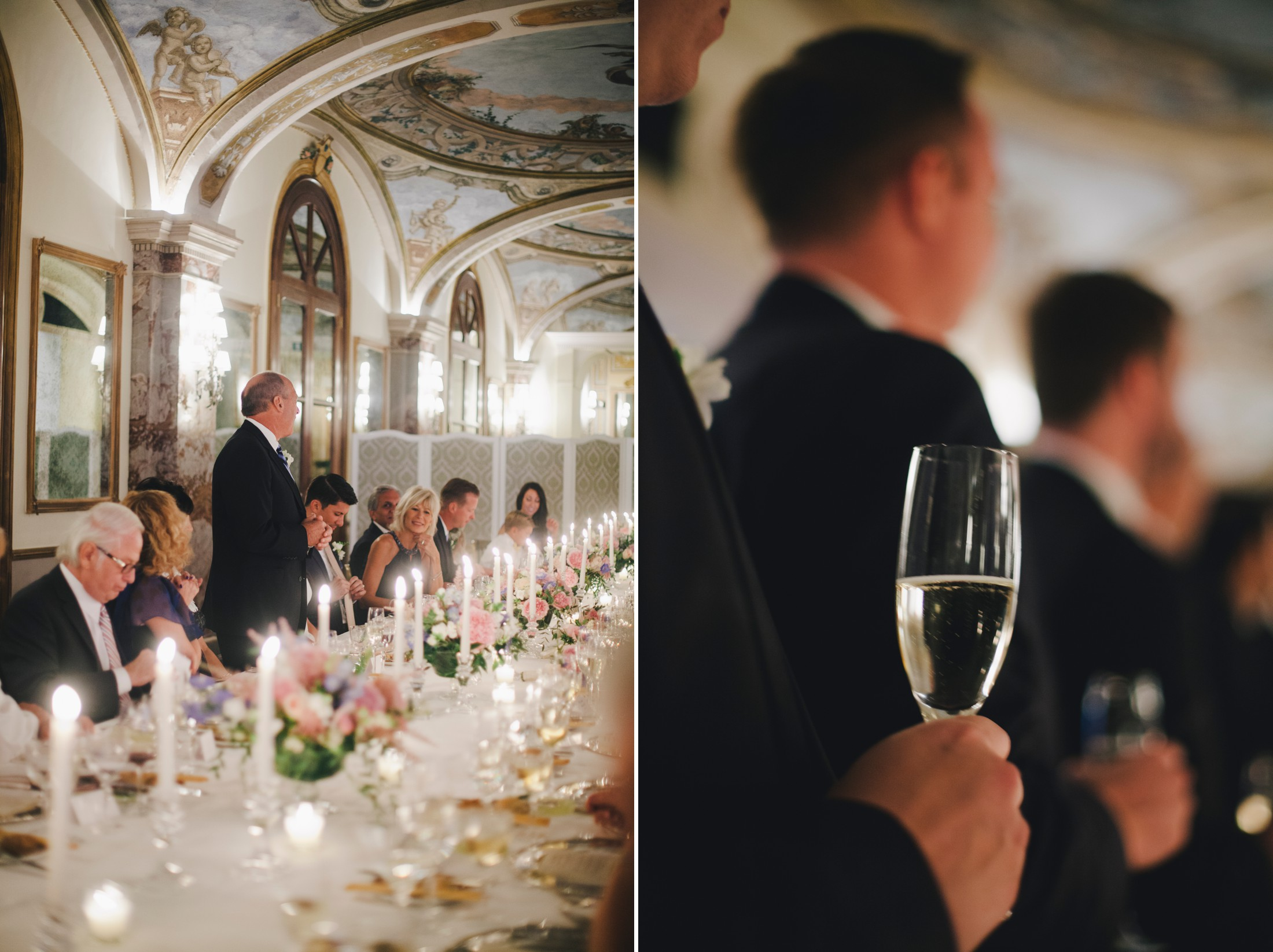 wedding in sorrento guests during a speech