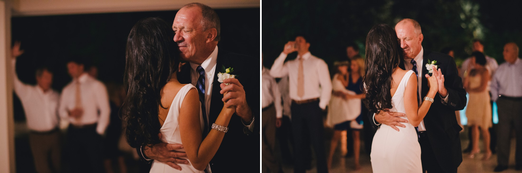 wedding in sorrento the bride dancing with her father