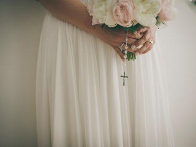 amalfi wedding detail of the bride's bouquet