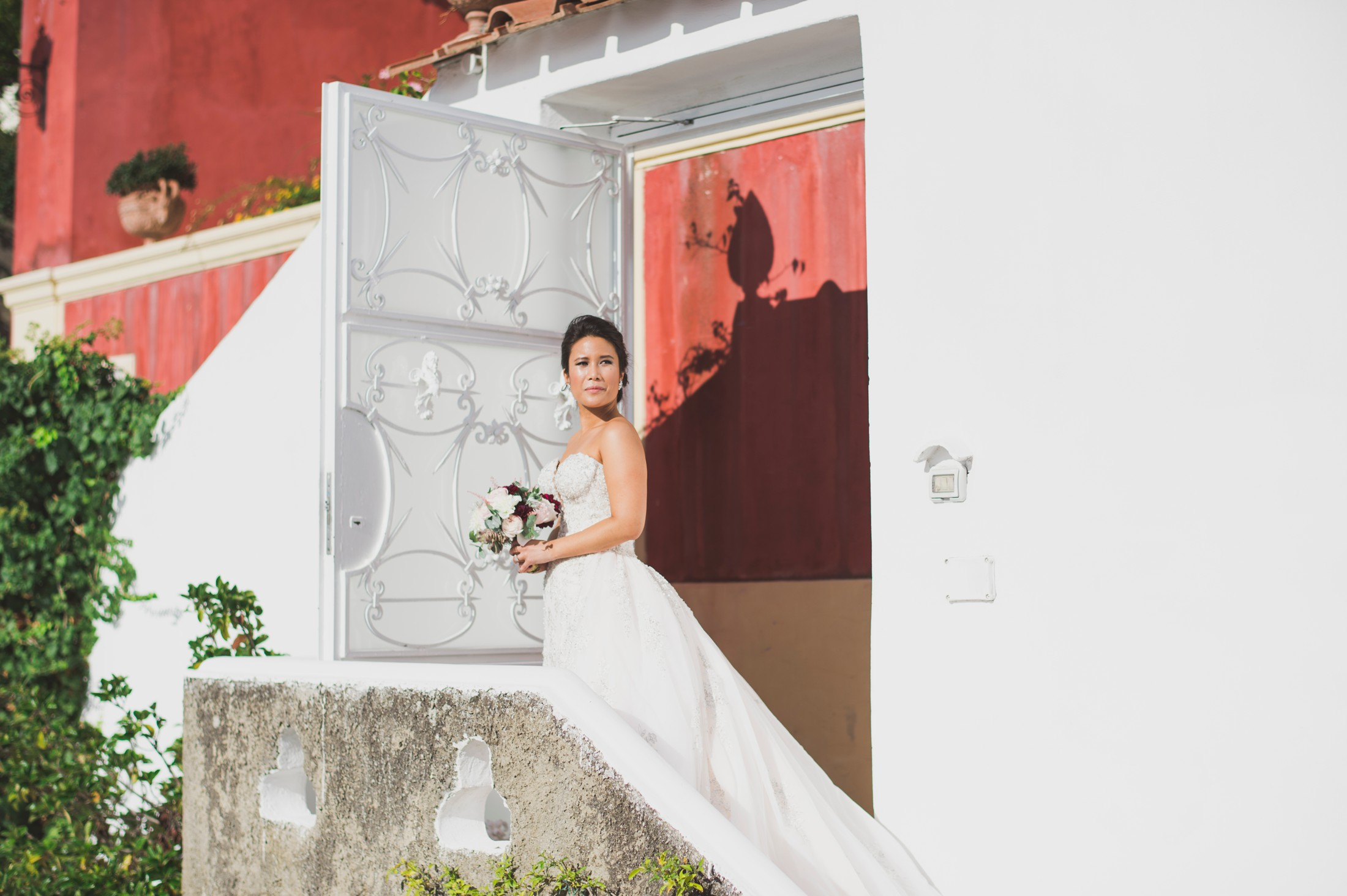 positano wedding bride's portrait