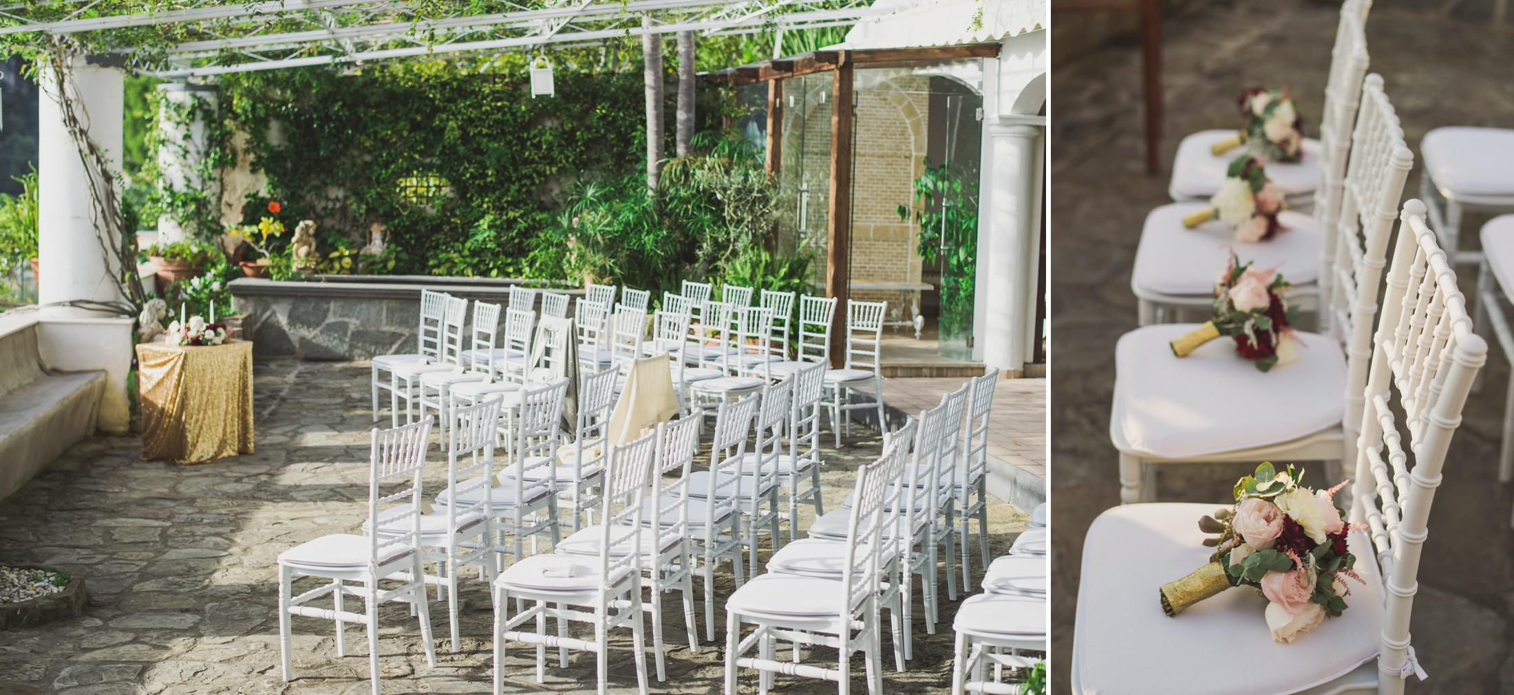 positano wedding ceremony setting details