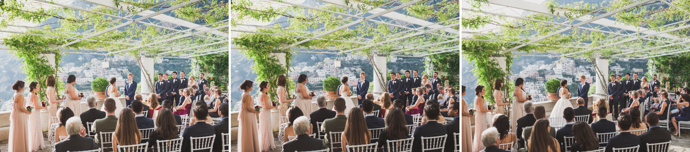 positano wedding collage wedding ceremony