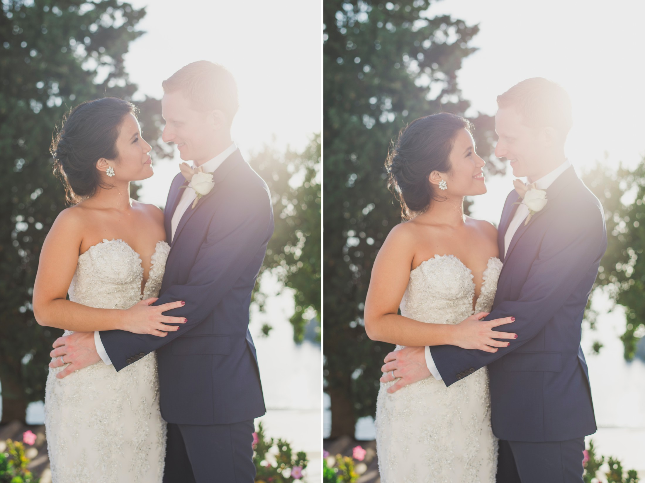 positano wedding collage bride and groom's portrait
