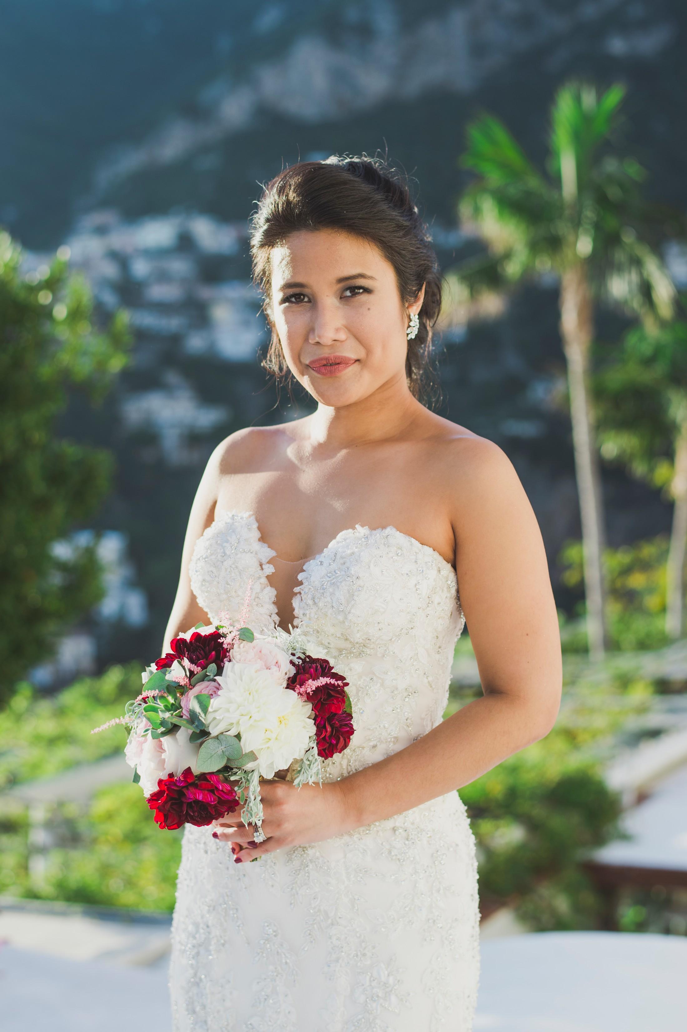 positano wedding bride's portrait