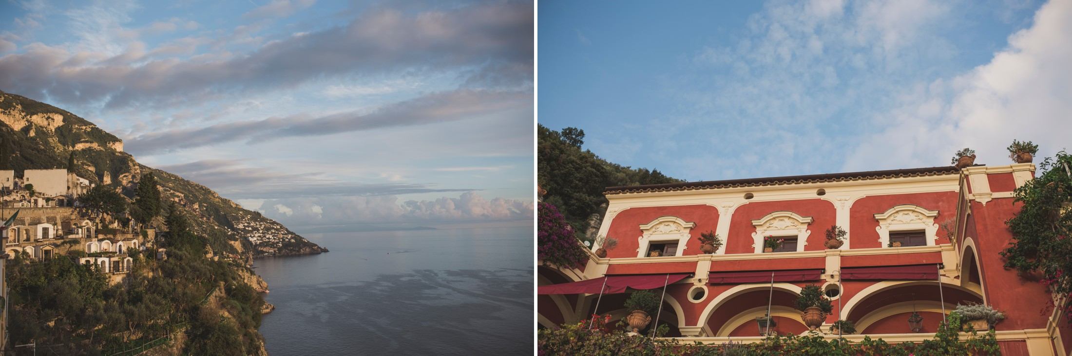 positano wedding collage villa oliviero and the coast
