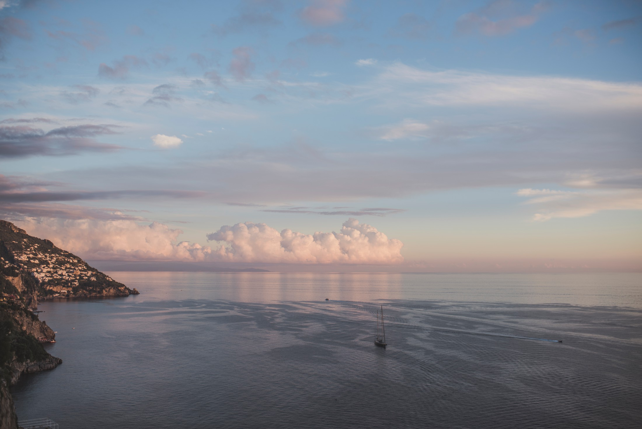 positano wedding the sea