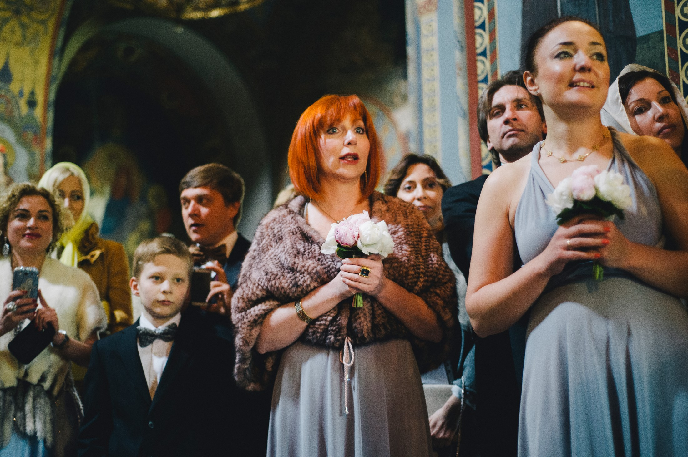 wedding guests during the wedding ceremony