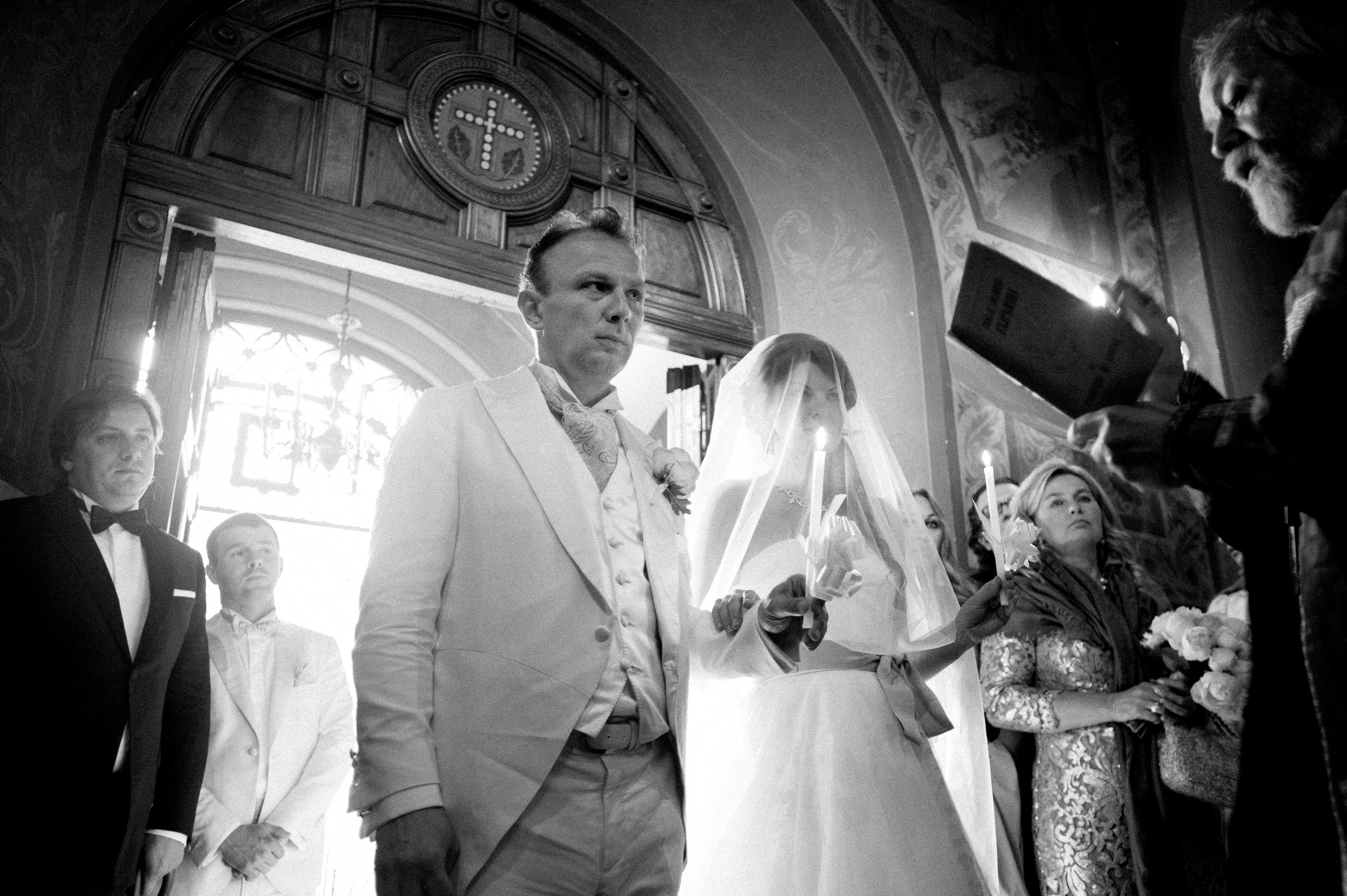 the bride and the groom during the wedding ceremony