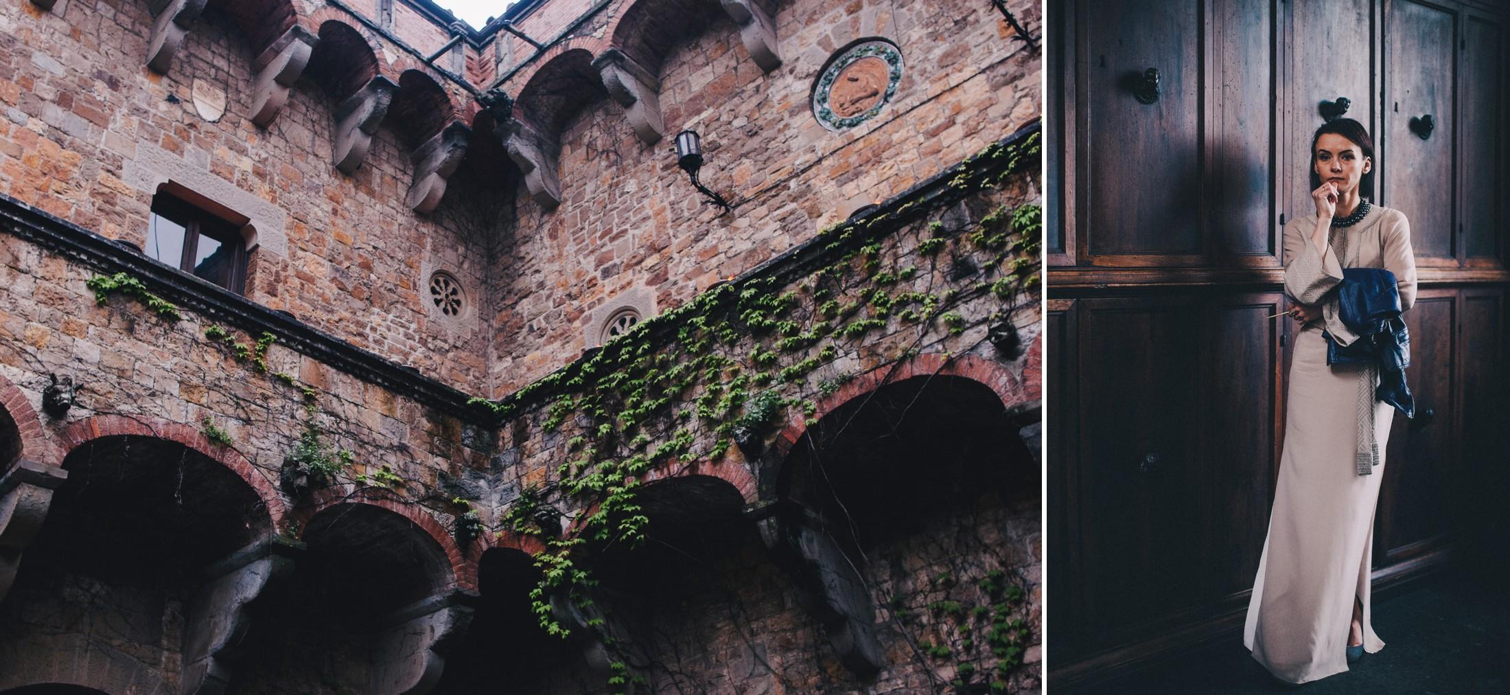 collage wedding guest and villa mangiacane detail