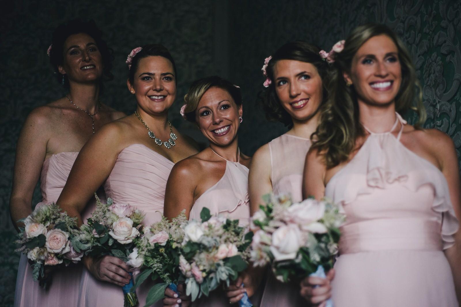 tuscany wedding bridesmaids