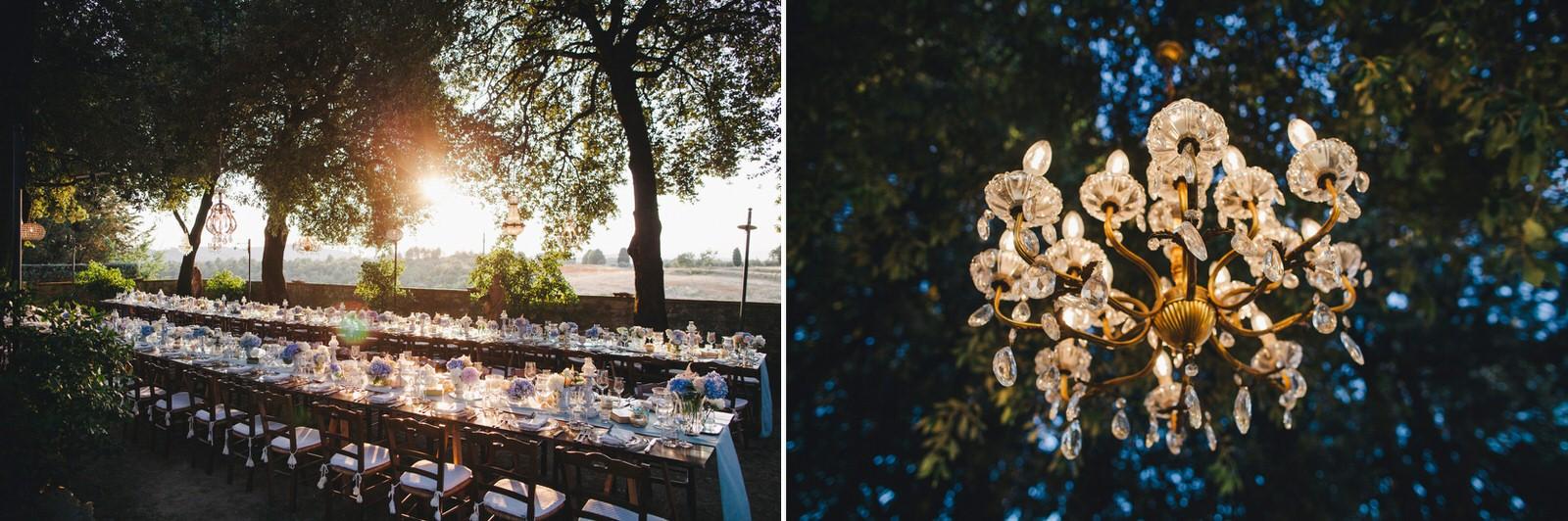 tuscany wedding table setting details
