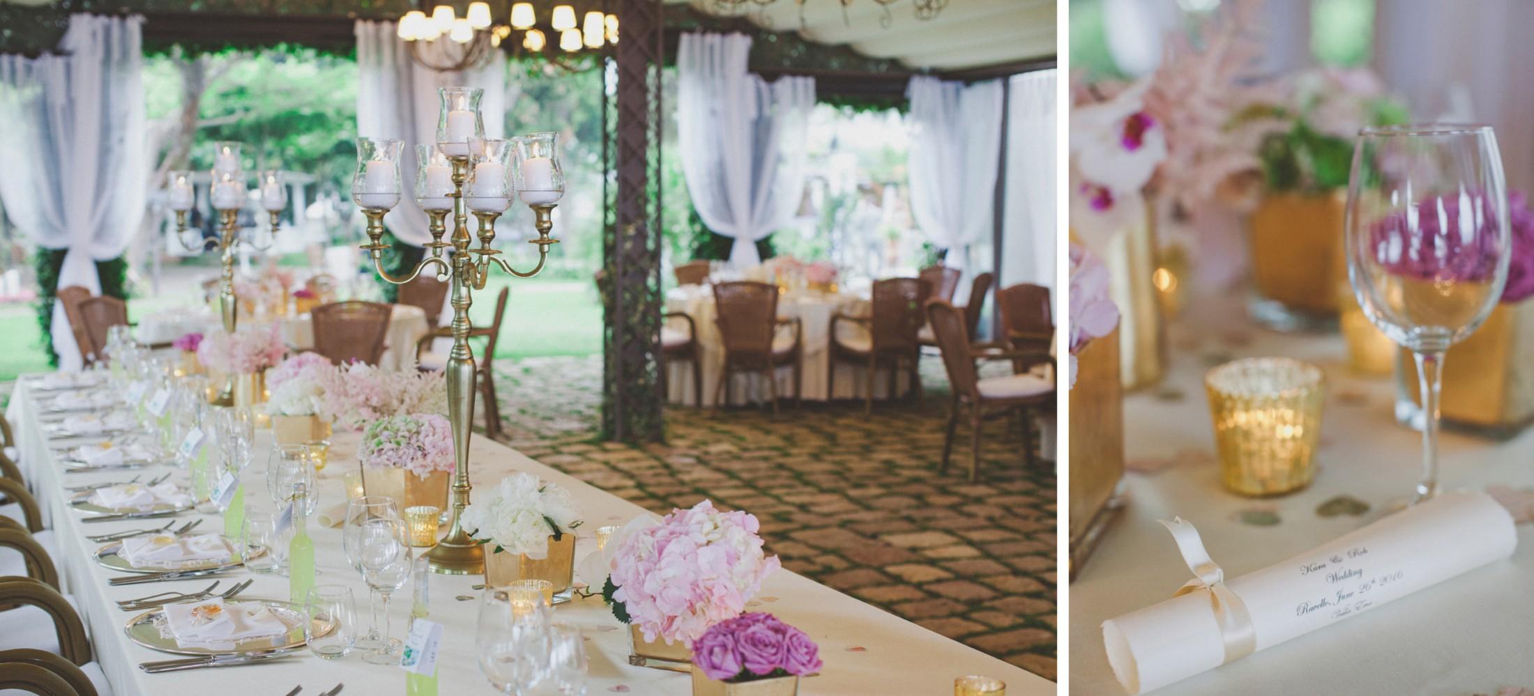 ravello wedding table decors