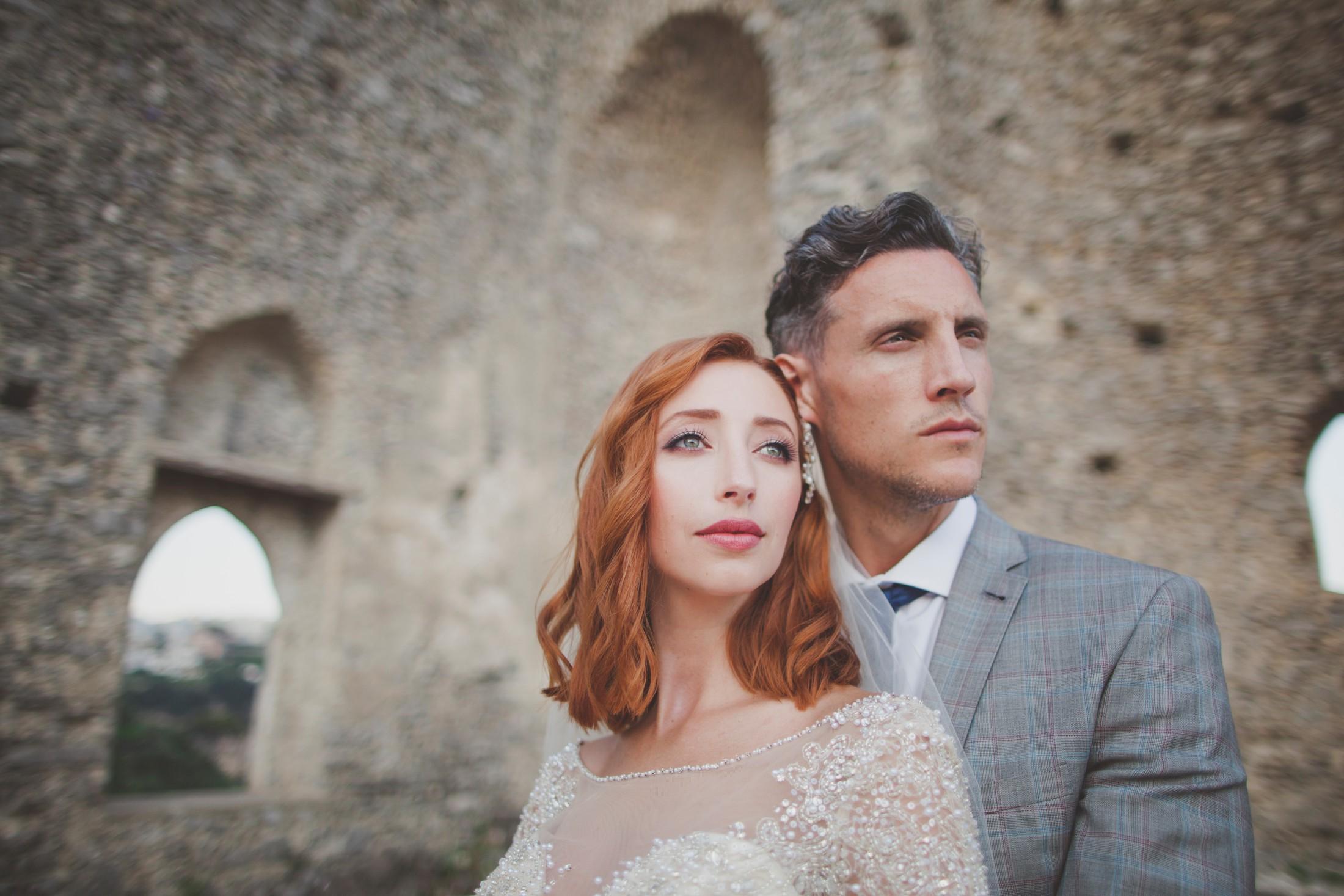 ravello wedding bride and groom's portrait