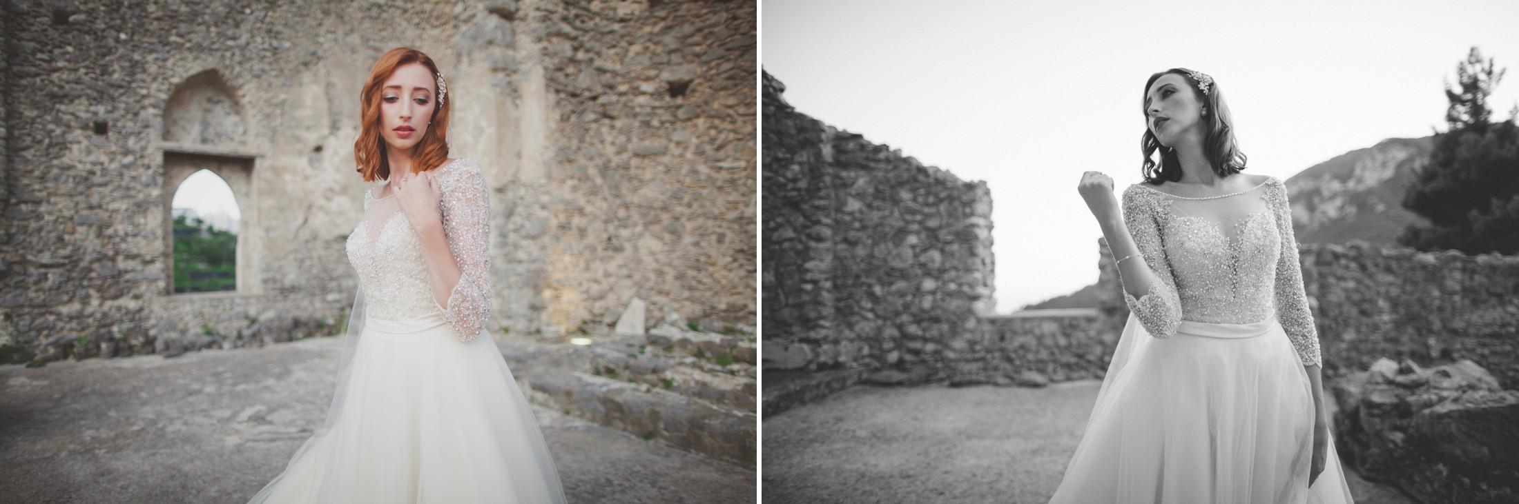 ravello wedding collage bride's portrait